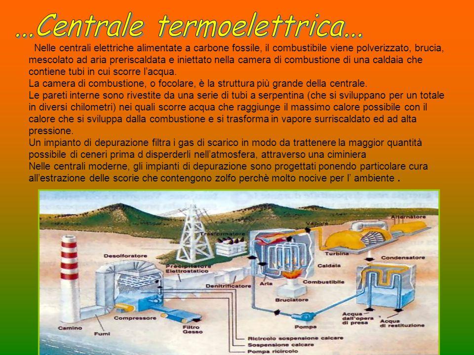 Nelle centrali elettriche alimentate a carbone fossile, il combustibile viene polverizzato, brucia, mescolato ad aria preriscaldata e iniettato nella