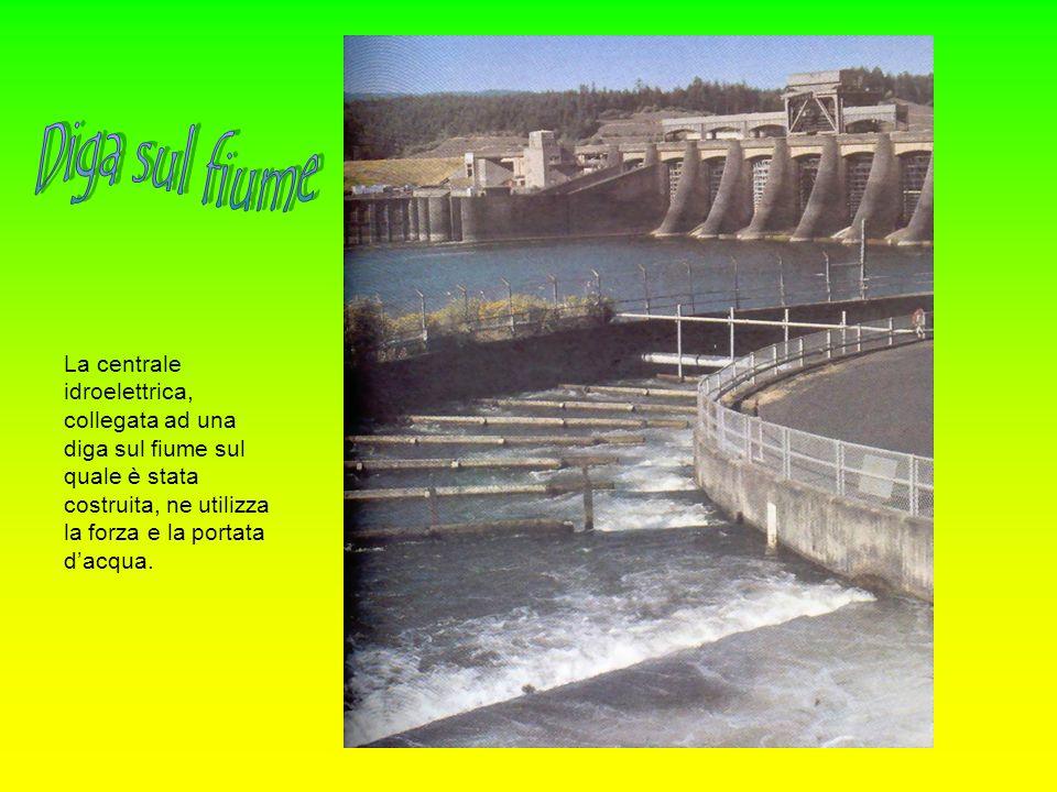 La centrale idroelettrica, collegata ad una diga sul fiume sul quale è stata costruita, ne utilizza la forza e la portata dacqua.