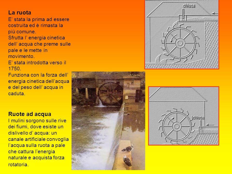 Mulino ad acqua in frazione Gozzolina (Castiglione D/St.) Il mulino era impiegato per i lavori più faticosi e ripetitivi, come: macinare cereali schiacciare olive battere metalli sollevare ed azionare meccanismi.