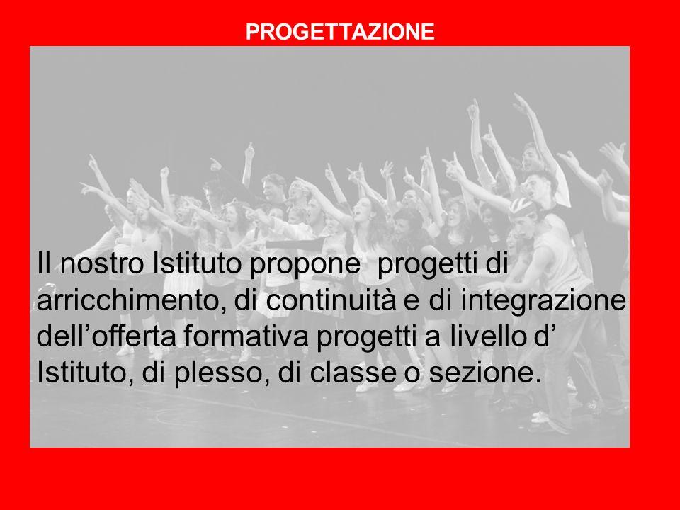 Il nostro Istituto propone progetti di arricchimento, di continuità e di integrazione dellofferta formativa progetti a livello d Istituto, di plesso,