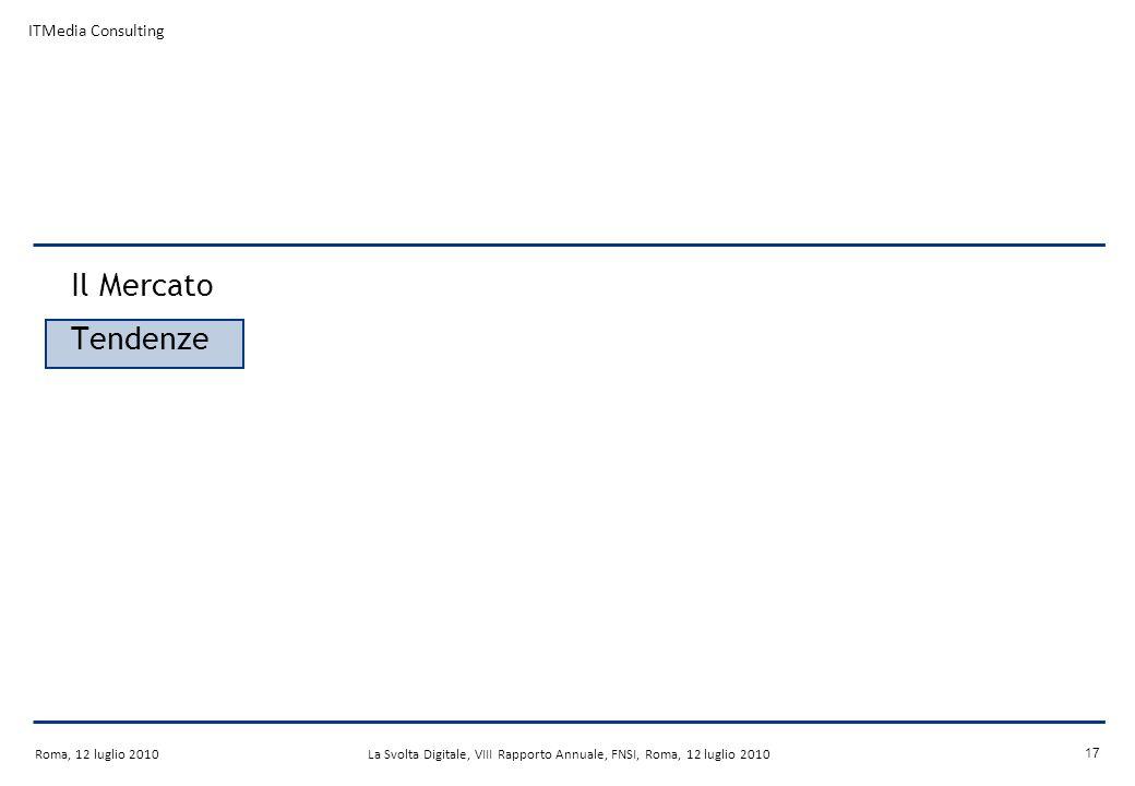 Roma, 12 luglio 2010La Svolta Digitale, VIII Rapporto Annuale, FNSI, Roma, 12 luglio 2010 16 Il processo di switch-over La fase di switch-over interessa oramai gran parte dellEuropa Germania, Finlandia, Lussemburgo, Svezia, Paesi Bassi, Svizzera, Norvegia e Danimarca hanno già completato lo switch-off nel 2009.