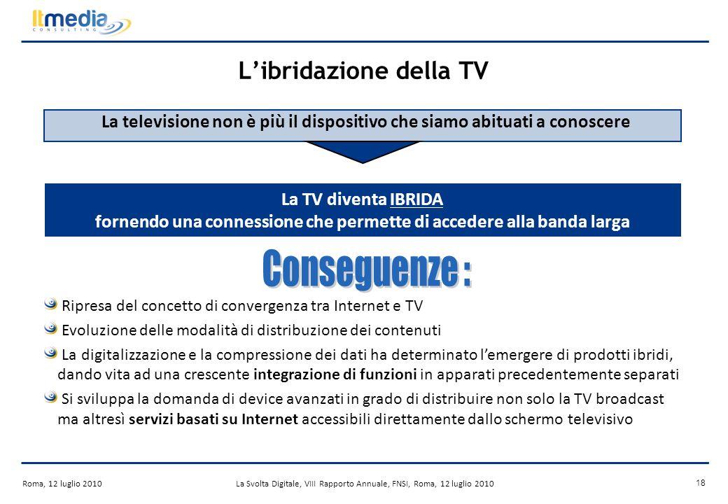 ITMedia Consulting Roma, 12 luglio 2010La Svolta Digitale, VIII Rapporto Annuale, FNSI, Roma, 12 luglio 2010 17 Il Mercato Tendenze