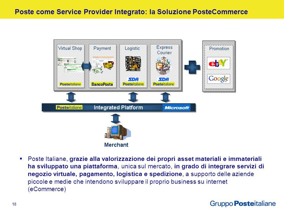 17 Raccolta centralizzata della corrispondenza dai Centri di Meccanizzazione Postale (CMP) Trasporto della corrispondenza ai centri servizi di Poste I