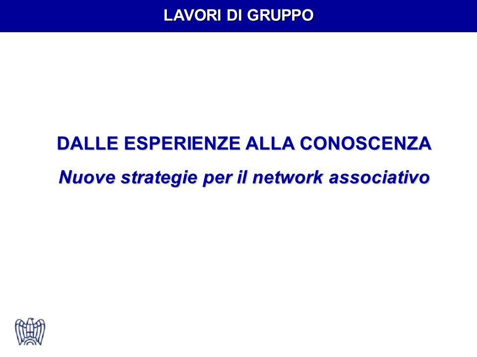 LAVORI DI GRUPPO DALLE ESPERIENZE ALLA CONOSCENZA Nuove strategie per il network associativo