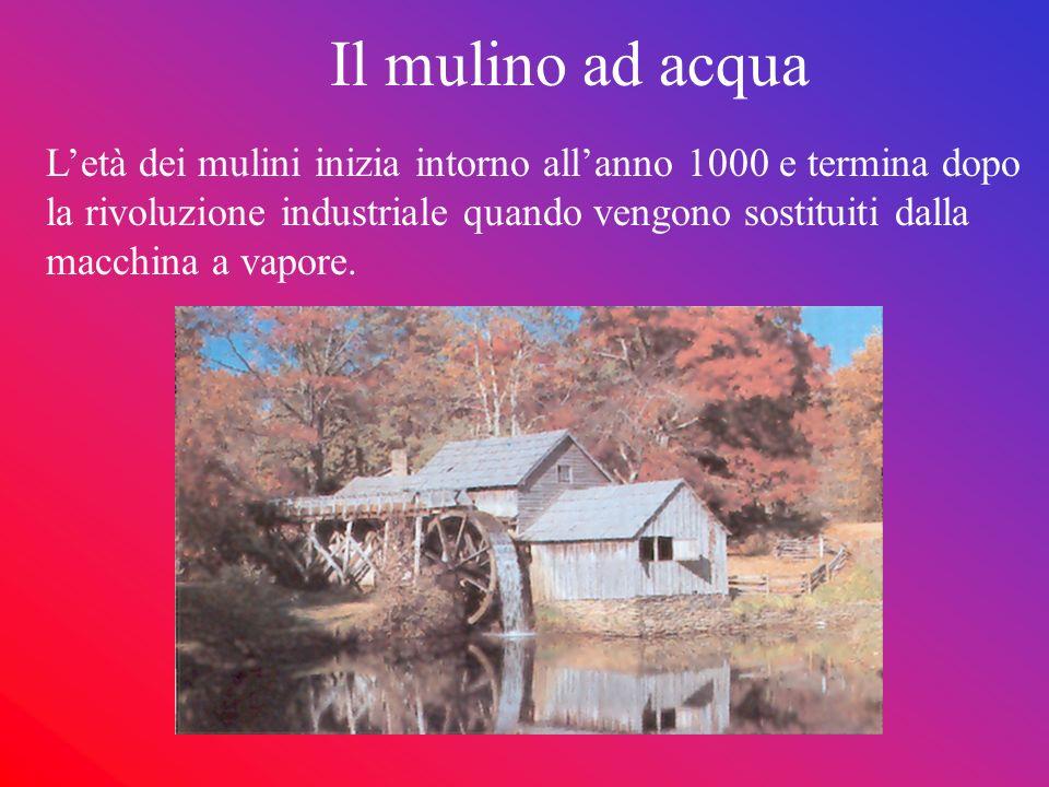 Funzionamento Il mulino ad acqua si trova sulle rive del fiume, nel punto dove esiste un certo dislivello dacqua.