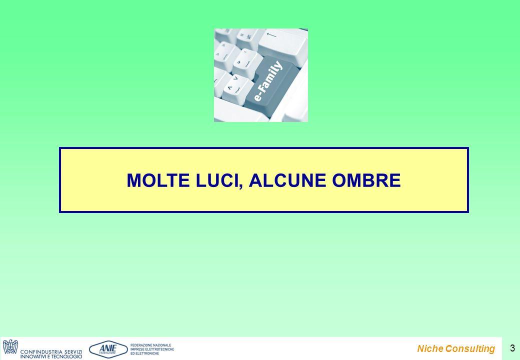 Presentazione del Rapporto e-Family 2007 Niche Consulting 3 MOLTE LUCI, ALCUNE OMBRE