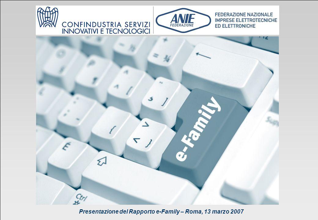 Presentazione del Rapporto e-Family 2007 Niche Consulting 49 Presentazione del Rapporto e-Family – Roma, 13 marzo 2007