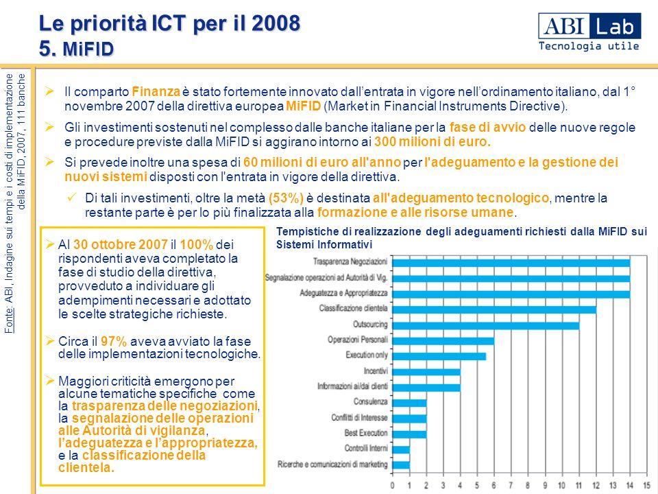 - 7 - Il comparto Finanza è stato fortemente innovato dallentrata in vigore nellordinamento italiano, dal 1° novembre 2007 della direttiva europea MiF