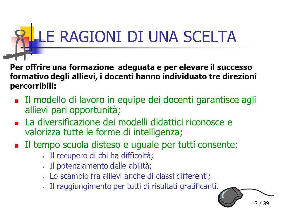 34 / 39 QUALE CONCEZIONE DELLA SCUOLA.Uguaglianza formale e sostanziale (Art.