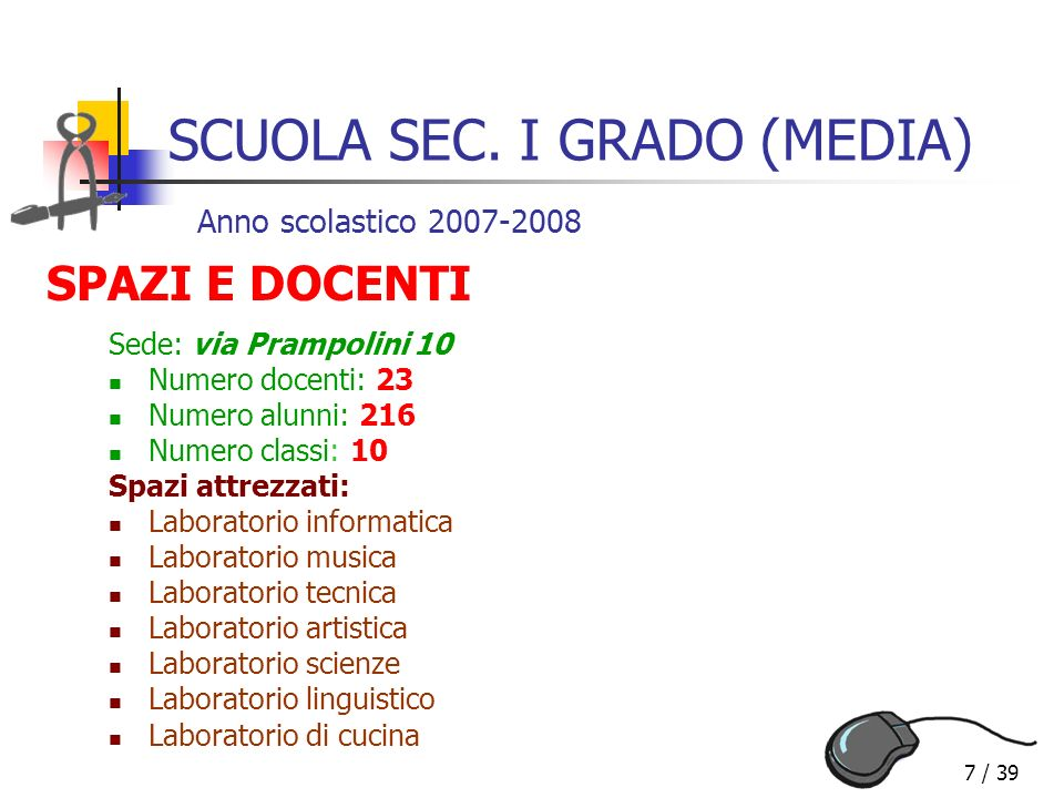 38 / 39 Istituto Comprensivo Statale Via Baranzate, 8 – Novate Mil.se (MI) Spazio per le Vostre domande Giovedì 10 gennaio 2008