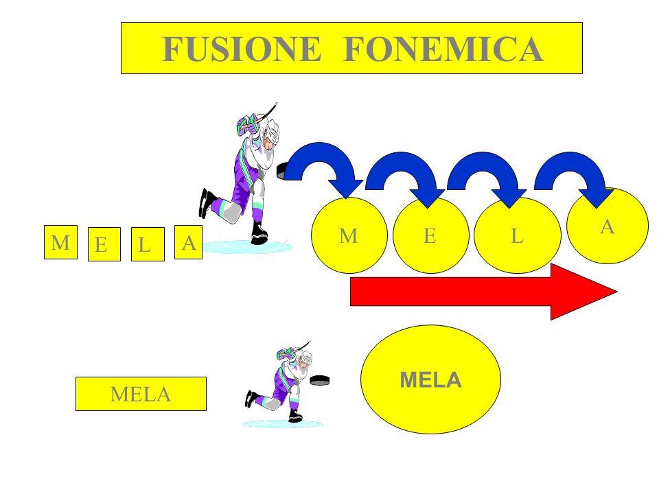 FUSIONE FONEMICA M EL A MELA MEL A