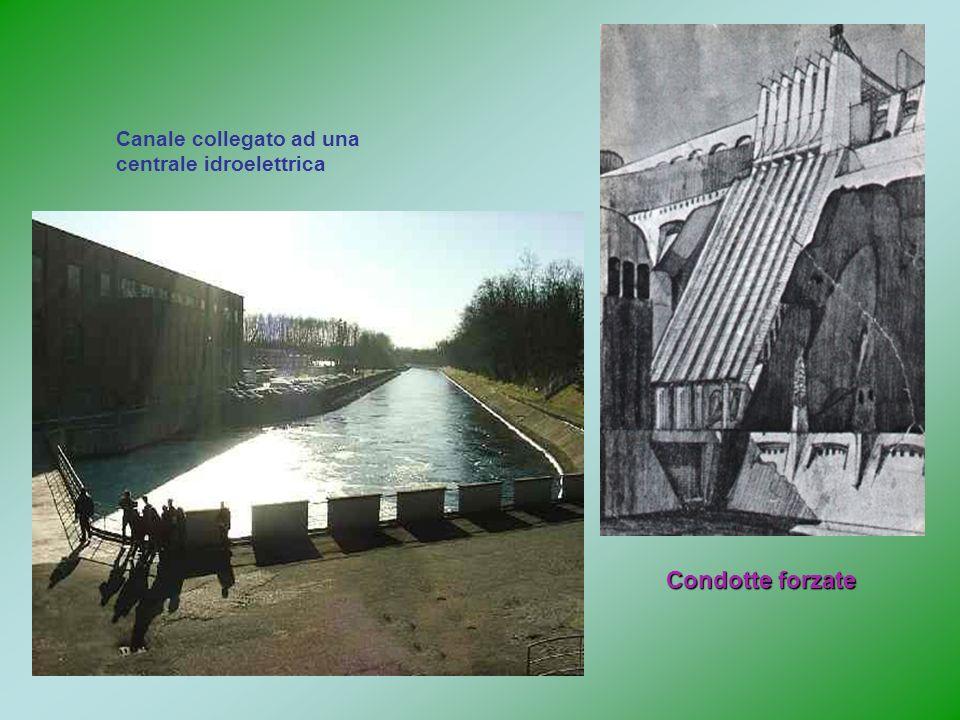 Canale collegato ad una centrale idroelettrica Condotte forzate