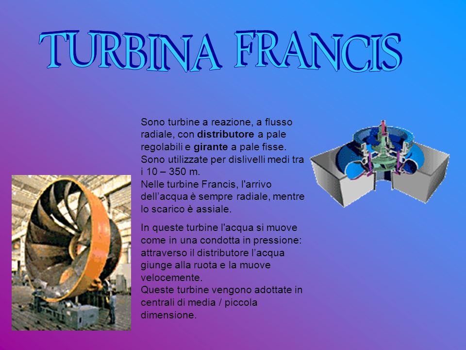 Sono turbine a reazione, a flusso radiale, con distributore a pale regolabili e girante a pale fisse. Sono utilizzate per dislivelli medi tra i 10 – 3