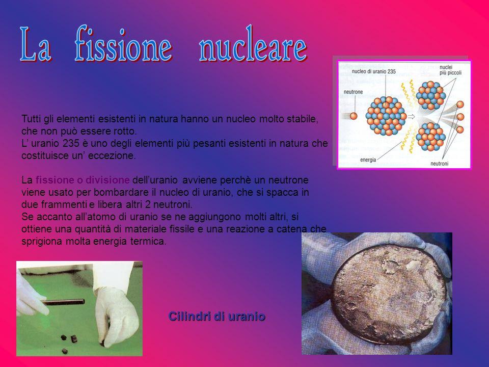 Tutti gli elementi esistenti in natura hanno un nucleo molto stabile, che non può essere rotto. L uranio 235 è uno degli elementi più pesanti esistent