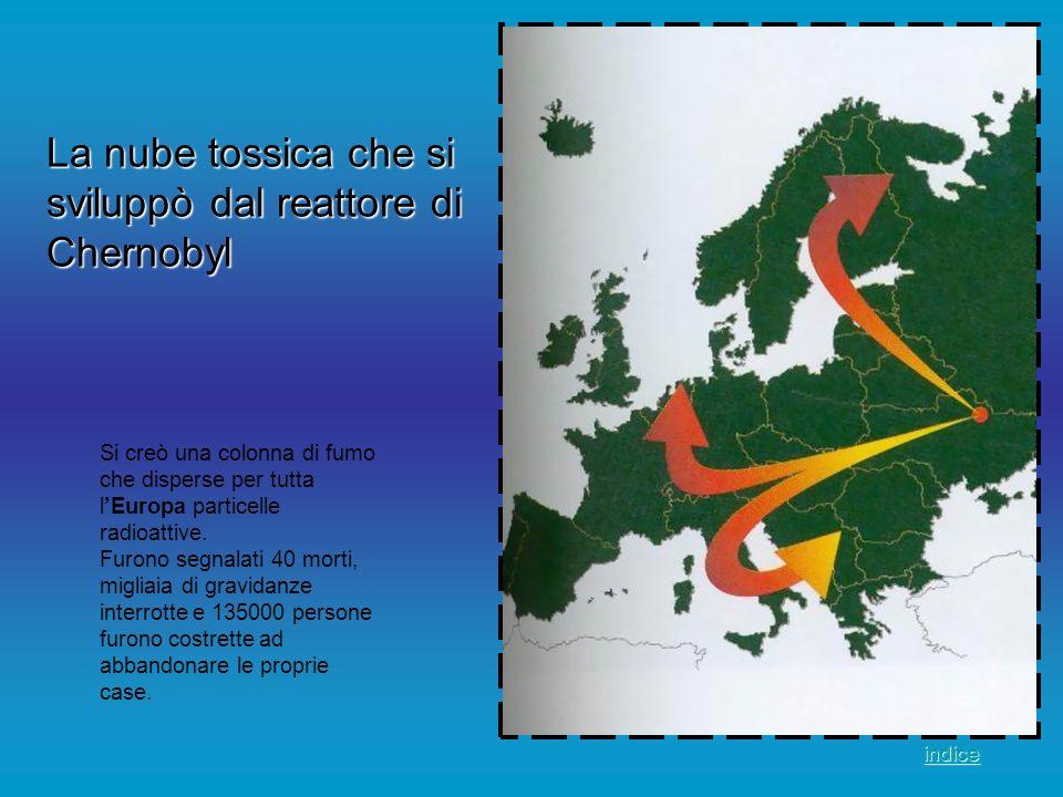 Si creò una colonna di fumo che disperse per tutta lEuropa particelle radioattive. Furono segnalati 40 morti, migliaia di gravidanze interrotte e 1350