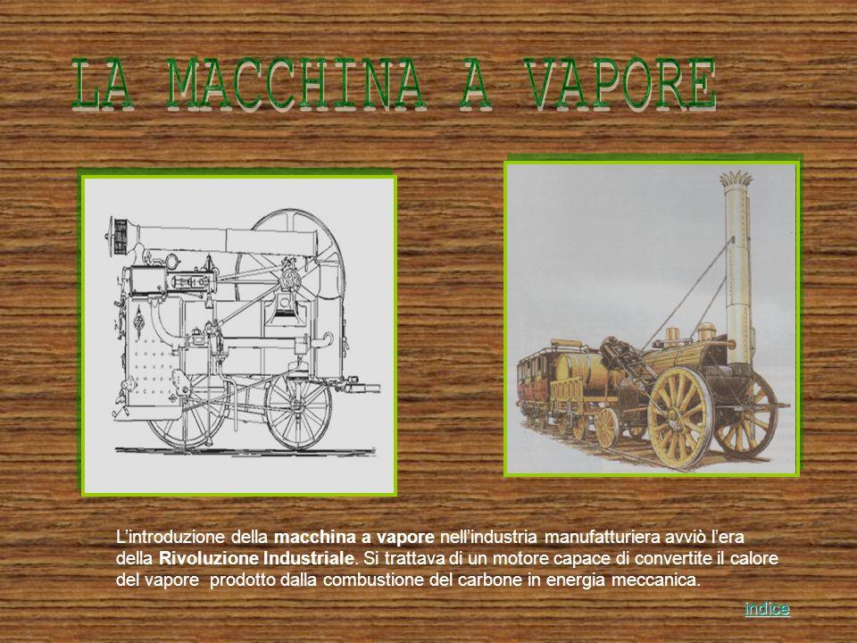 Lintroduzione della macchina a vapore nellindustria manufatturiera avviò lera della Rivoluzione Industriale. Si trattava di un motore capace di conver