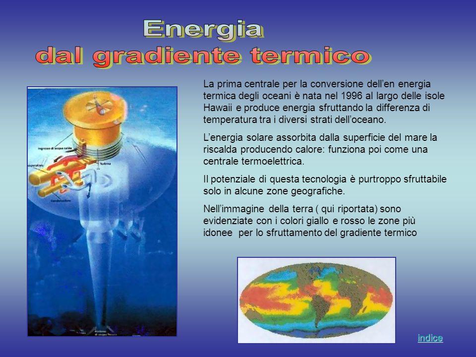 La prima centrale per la conversione dellen energia termica degli oceani è nata nel 1996 al largo delle isole Hawaii e produce energia sfruttando la d