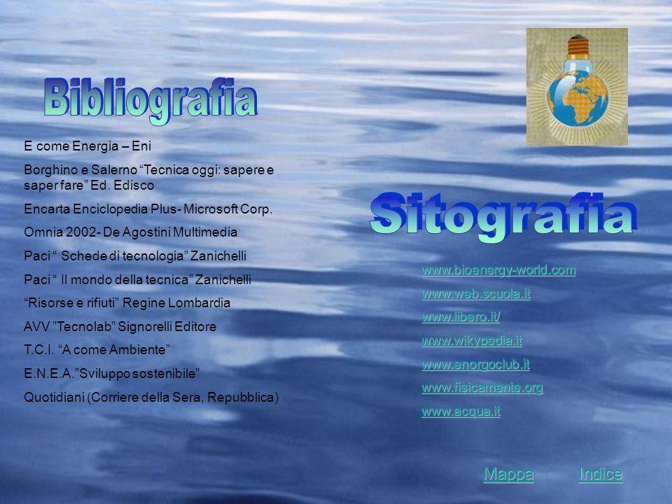 E come Energia – Eni Borghino e Salerno Tecnica oggi: sapere e saper fare Ed. Edisco Encarta Enciclopedia Plus- Microsoft Corp. Omnia 2002- De Agostin