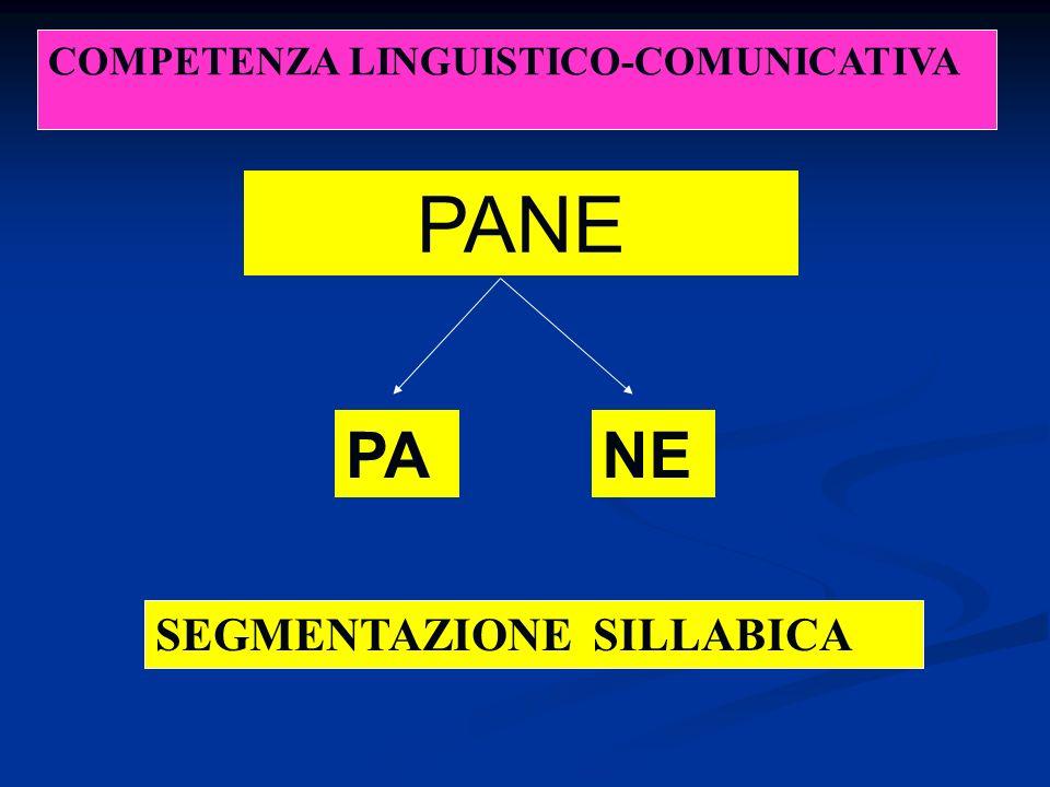 PANE PANE SEGMENTAZIONE SILLABICA