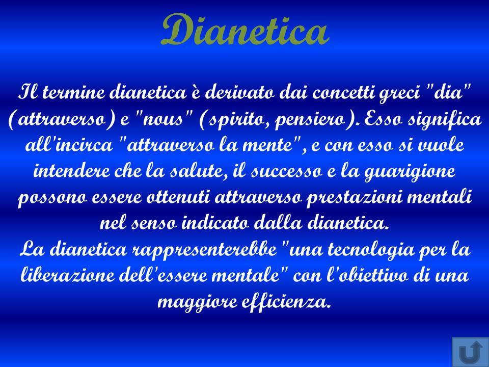 Dianetica Il termine dianetica è derivato dai concetti greci