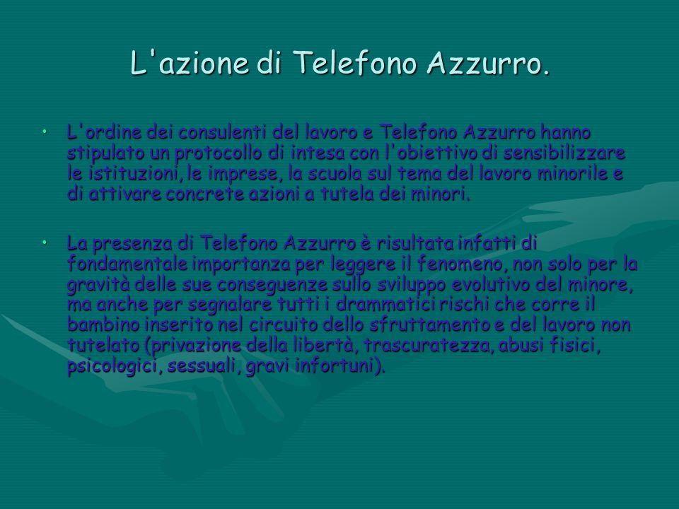 L'azione di Telefono Azzurro. L'ordine dei consulenti del lavoro e Telefono Azzurro hanno stipulato un protocollo di intesa con l'obiettivo di sensibi
