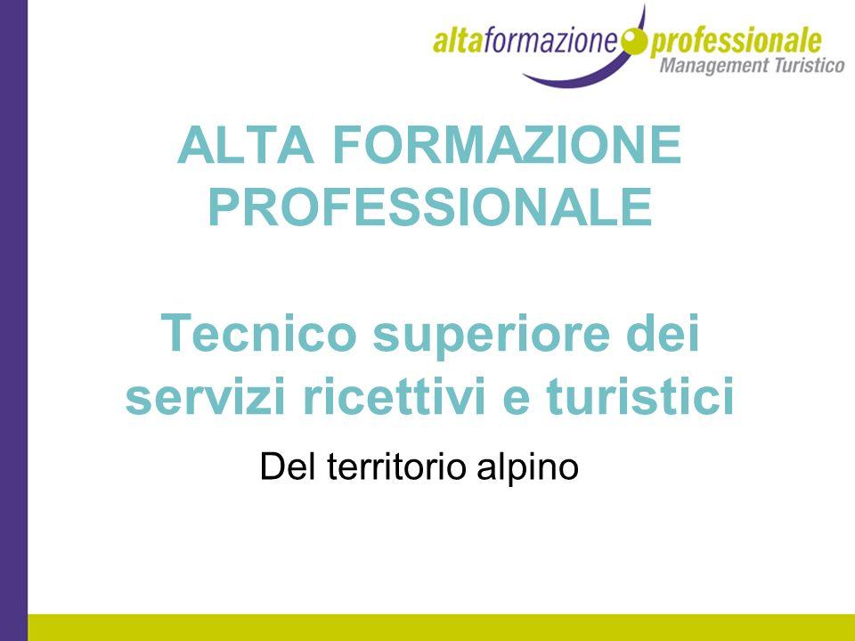 ALTA FORMAZIONE PROFESSIONALE Tecnico superiore dei servizi ricettivi e turistici Del territorio alpino