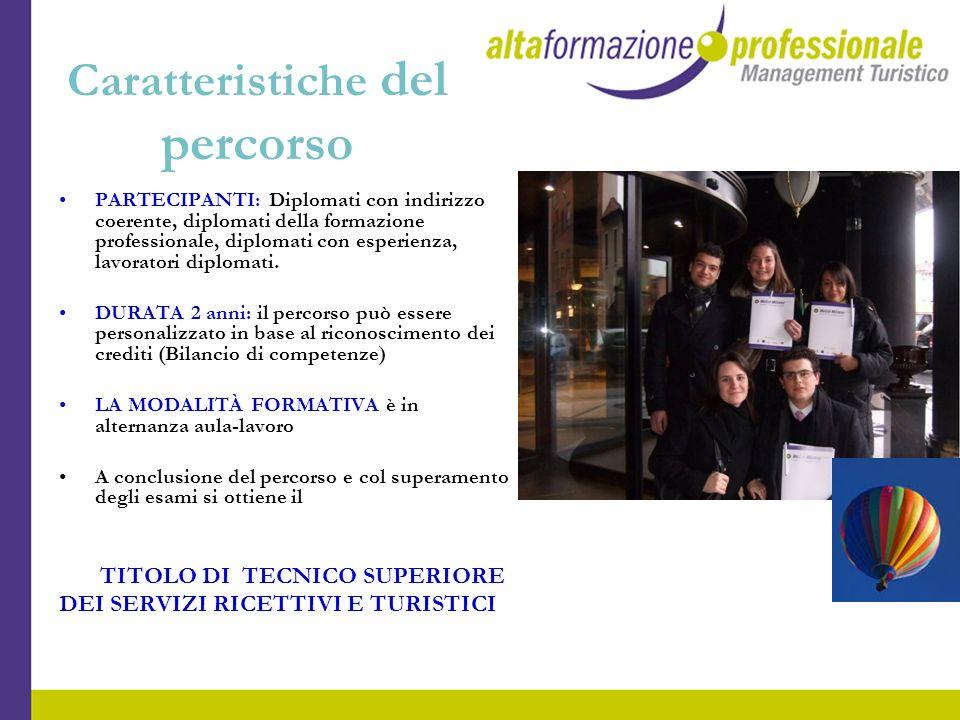 Caratteristiche del percorso PARTECIPANTI: Diplomati con indirizzo coerente, diplomati della formazione professionale, diplomati con esperienza, lavor