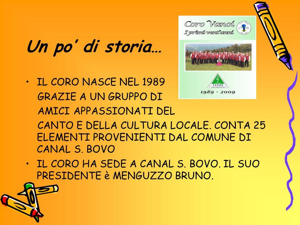 Un po di storia… IL CORO NASCE NEL 1989 GRAZIE A UN GRUPPO DI AMICI APPASSIONATI DEL CANTO E DELLA CULTURA LOCALE.