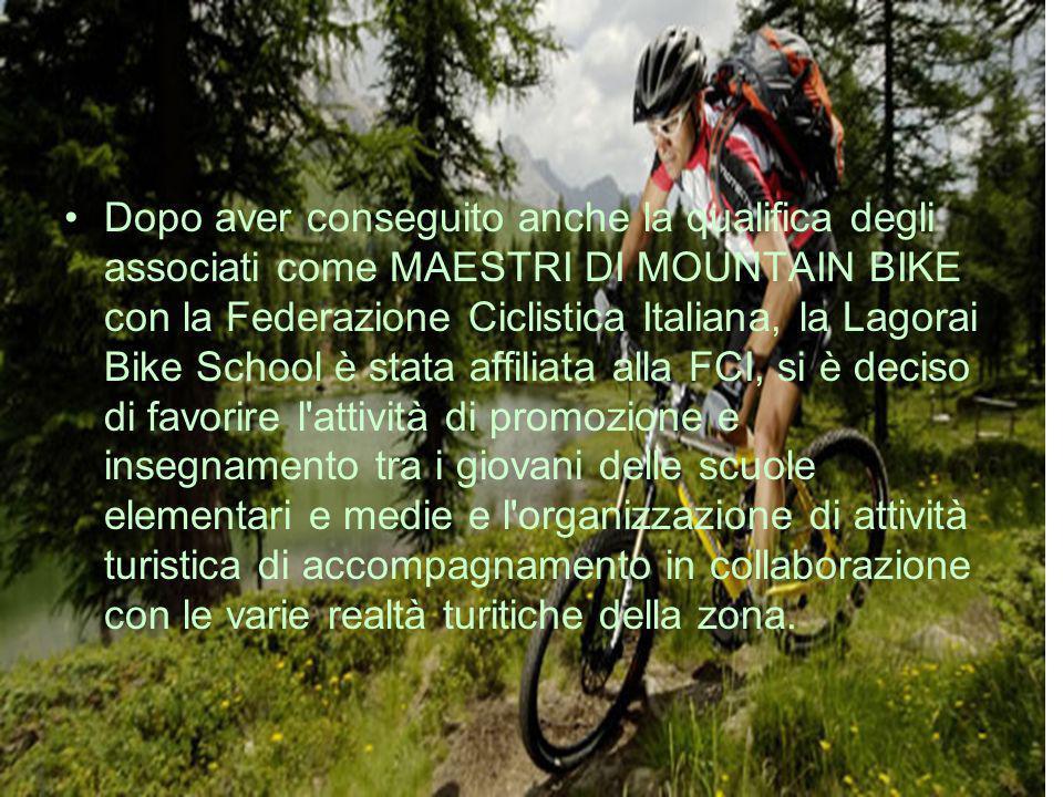 Dopo aver conseguito anche la qualifica degli associati come MAESTRI DI MOUNTAIN BIKE con la Federazione Ciclistica Italiana, la Lagorai Bike School è