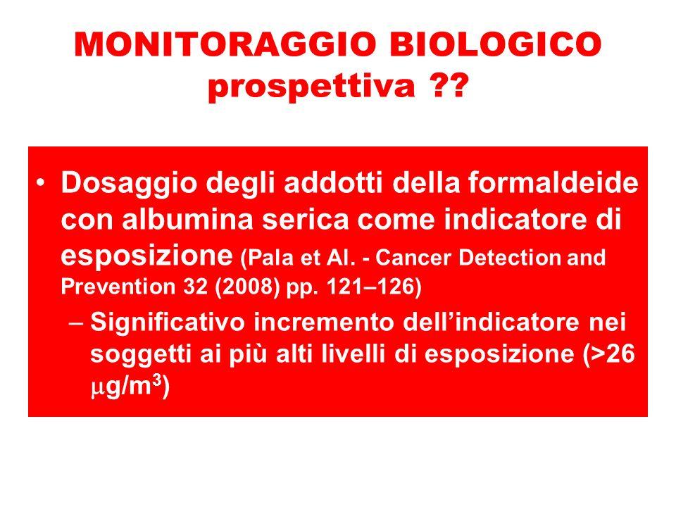 Origine indoor delle concentrazioni di formaldeide Concentrazioni di formaldeide misurate outdoor in tutta la Regione Toscana Intervallo 1,5-9,2 µg/m 3 GM 3,3 µg/m 3 in inverno GM 4,4 µg/m 3 in primavera