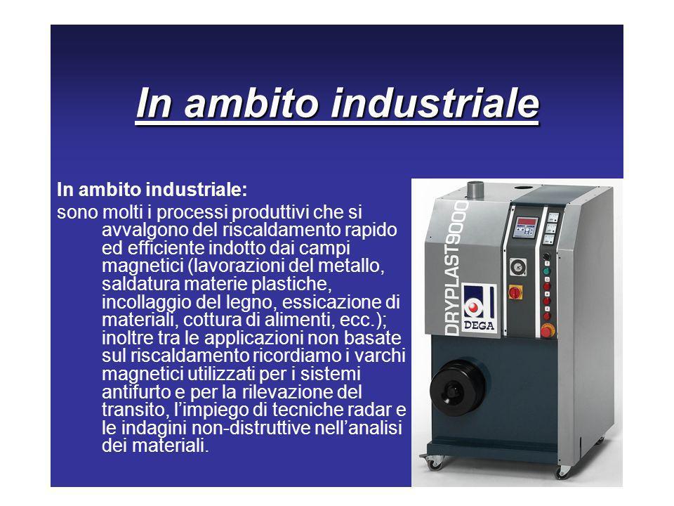 In ambito industriale In ambito industriale: sono molti i processi produttivi che si avvalgono del riscaldamento rapido ed efficiente indotto dai camp