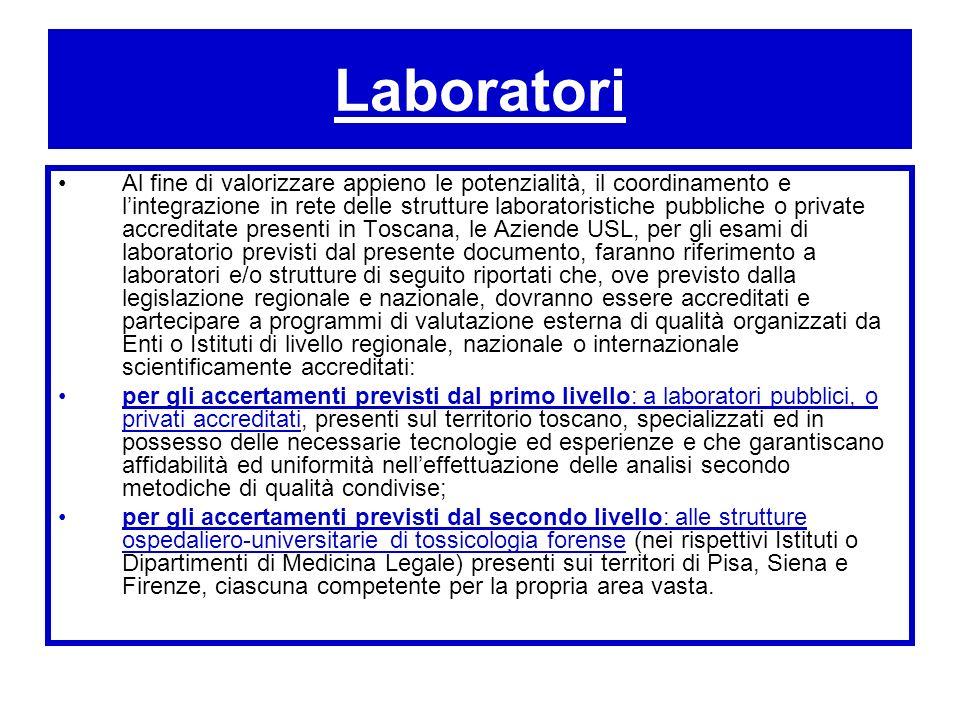 Laboratori Al fine di valorizzare appieno le potenzialità, il coordinamento e lintegrazione in rete delle strutture laboratoristiche pubbliche o priva