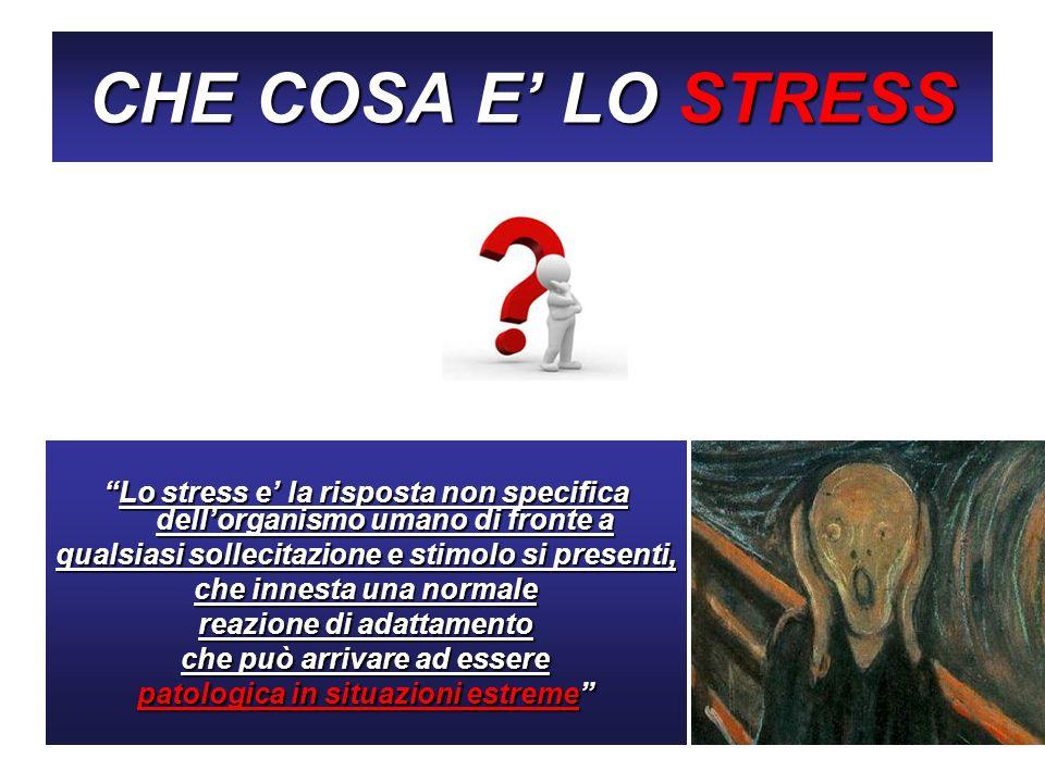 CHE COSA E LO STRESS Lo stress e la risposta non specifica dellorganismo umano di fronte aLo stress e la risposta non specifica dellorganismo umano di