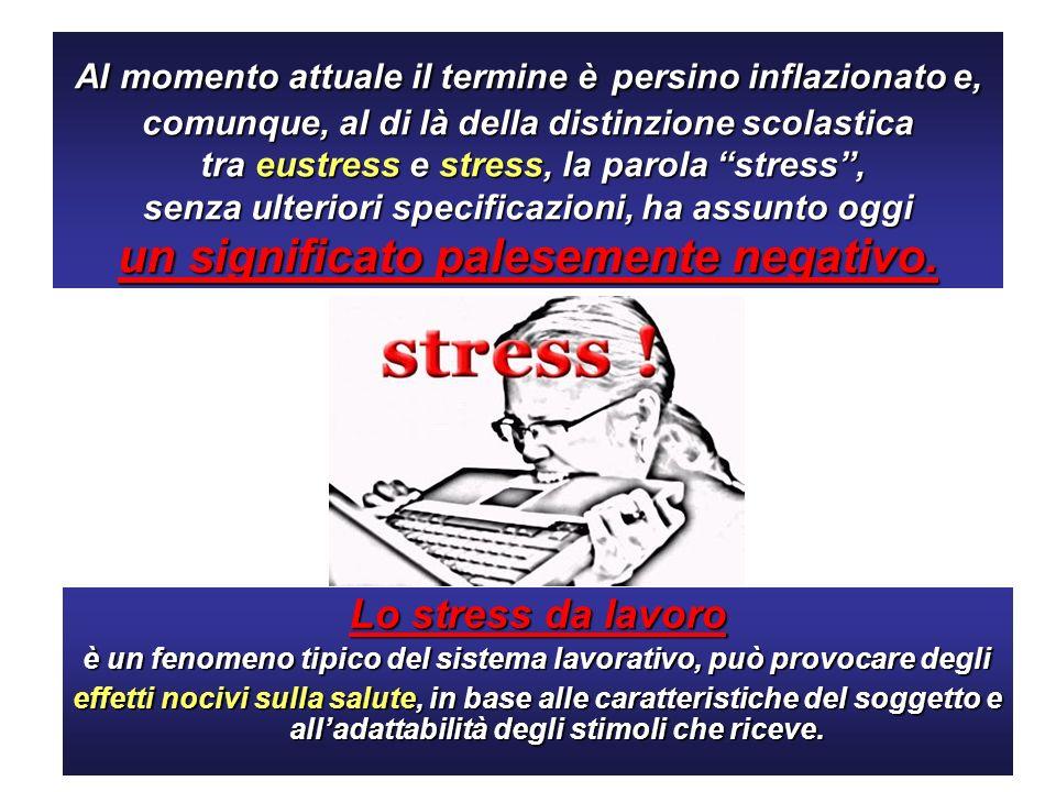 Lo stress è il secondo problema di salute legato allattività lavorativa che viene riferito più frequentemente Lo stress interessa quasi un lavoratore europeo su quattro.