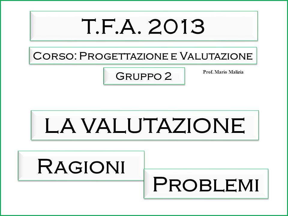 Per la parte generale (ragioni) o De Pietro O., Progettare e valutare nella formazione, Monolite Editrice, Roma, 2012 – Cap.