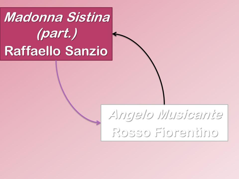Madonna Sistina (part.) Raffaello Sanzio Angelo Musicante Rosso Fiorentino