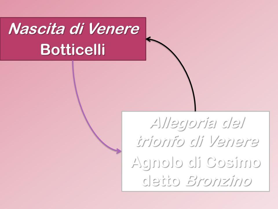 Nascita di Venere Botticelli Allegoria del trionfo di Venere Agnolo di Cosimo detto Bronzino