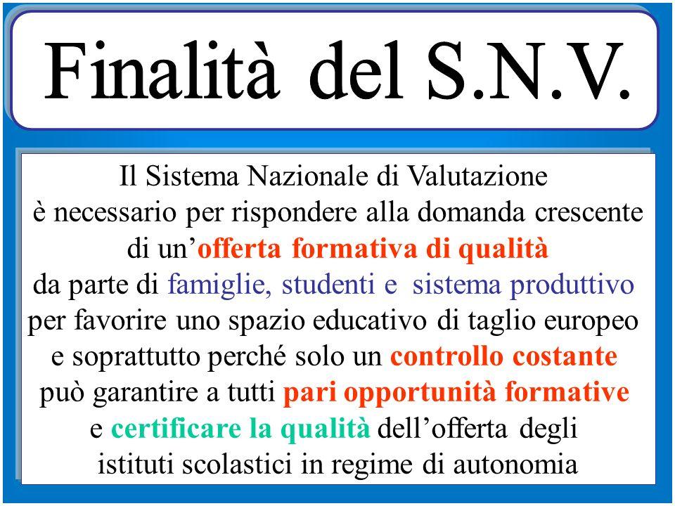 Sistema nazionale di istruzione, di educazione, di formazione * Ordinamenti * Strutture * Finalità