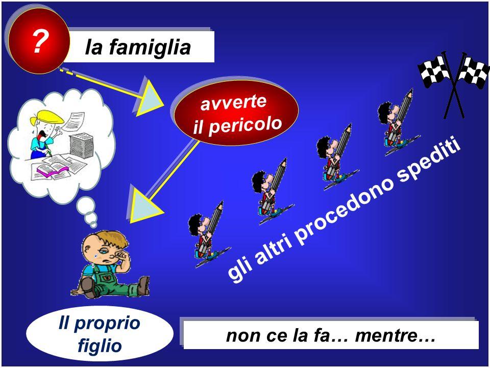 la famiglia ? avverte il pericolo gli altri procedono spediti Il proprio figlio non ce la fa… mentre…