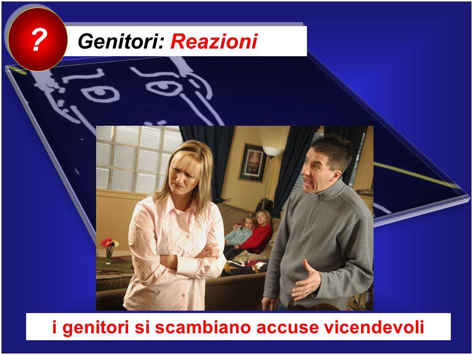 Genitori: Reazioni ? i genitori si scambiano accuse vicendevoli
