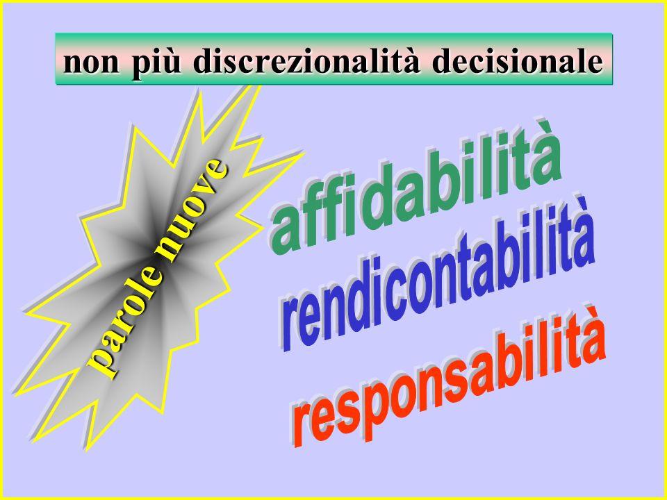 parole nuove non più discrezionalità decisionale
