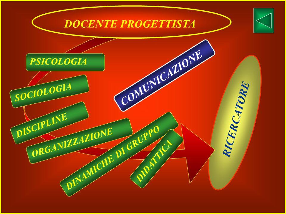 ATTENZIONE AL SOGGETTO ATTENZIONE AL TERRITORIO COSTRUZIONE CURRICOLO DIVERSIFICAZIONE DIDATTICA ORGANIZZAZIONE DOCENTE PROGETTISTA Professionalità do