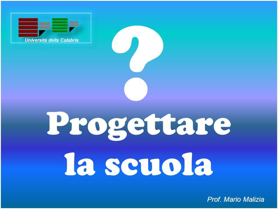Progettare la scuola ? Prof. Mario Malizia