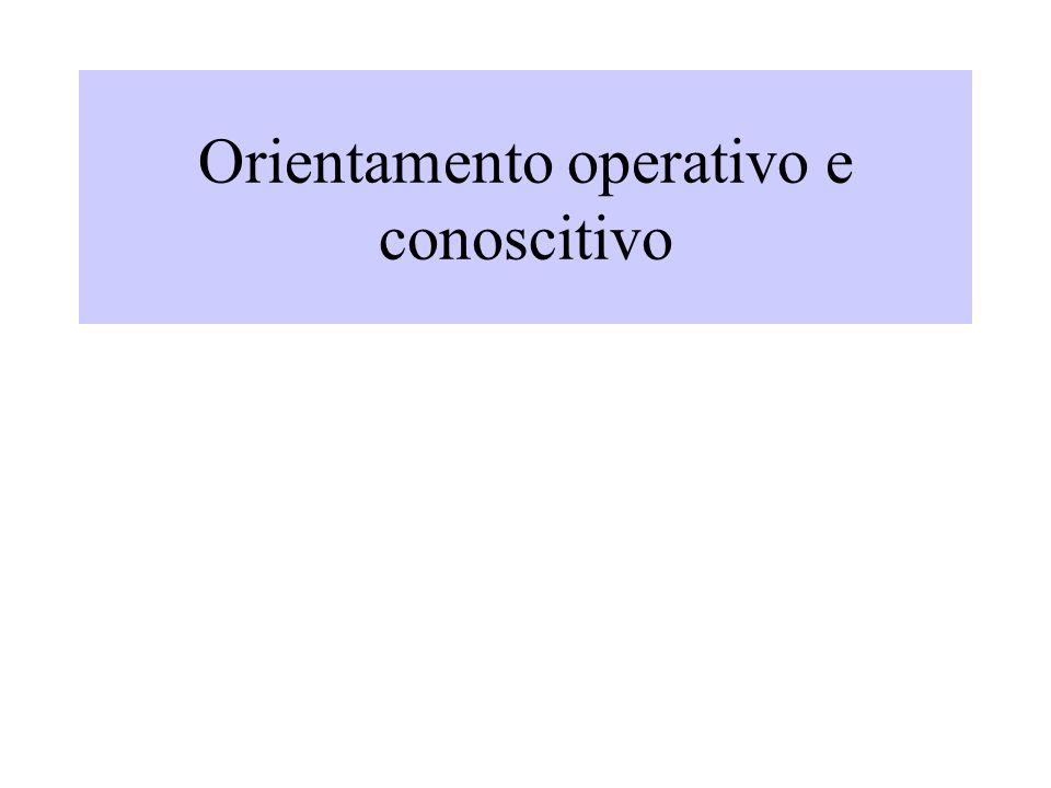Orientamento operativo e conoscitivo