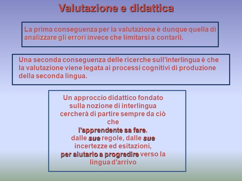 Valutazione e didattica analizzare gli errori La prima conseguenza per la valutazione è dunque quella di analizzare gli errori invece che limitarsi a