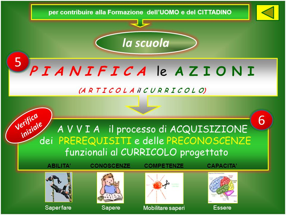 per contribuire alla Formazione dellUOMO e del CITTADINO la scuola S E L E Z I O N A le C O M P E T E N Z E (ritenute indispensabili per vivere il pro
