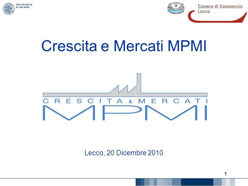 2 Agenda Il Politecnico e il territorio Il Polo di Lecco e il progetto Crescita e Mercati MPMI Le difficoltà; il ruolo di Camera e Associazioni Stato di avanzamento delle iscrizioni La Spagna per i produttori di stampi (navigazione della piattaforma)