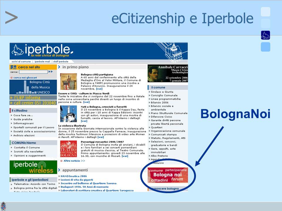 > BolognaNoi eCitizenship e Iperbole