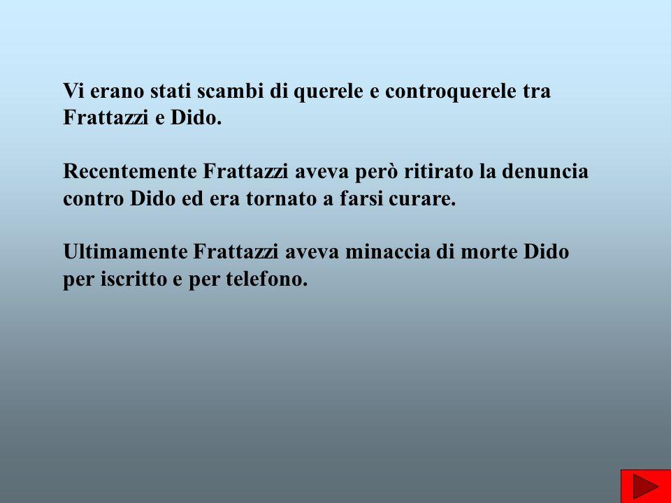 Vi erano stati scambi di querele e controquerele tra Frattazzi e Dido.
