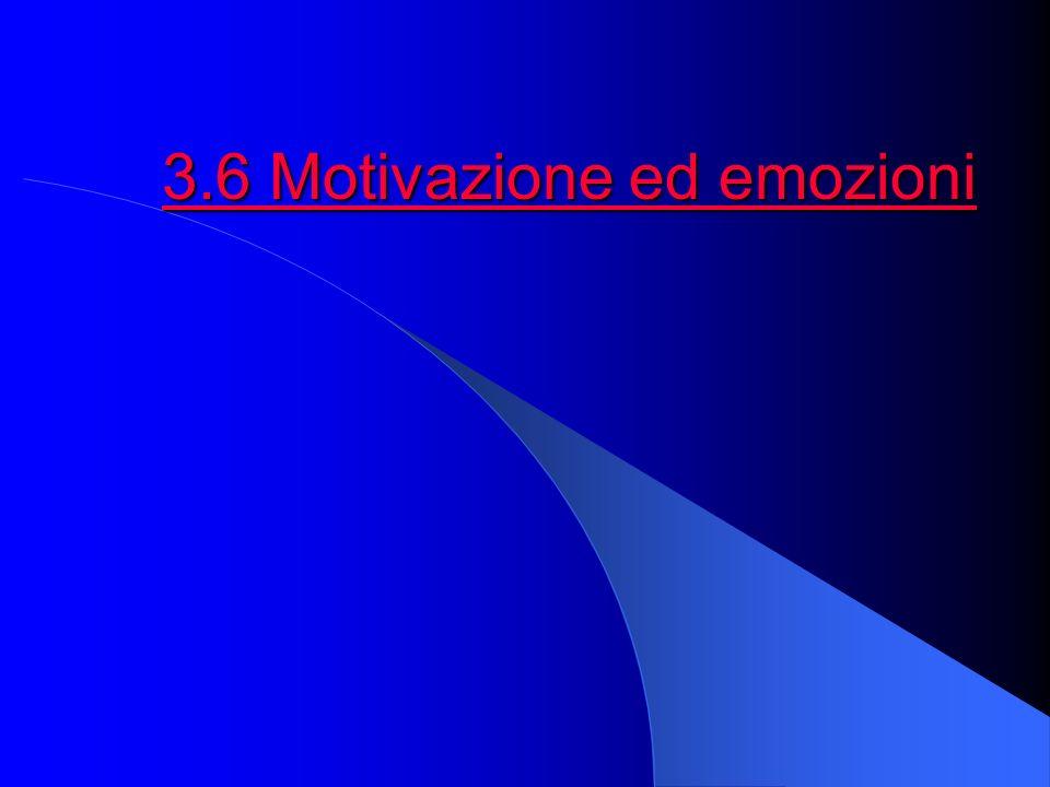 3.6 Motivazione ed emozioni 3.6 Motivazione ed emozioni